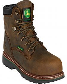 "John Deere Men's 6"" Waterproof Lace-Up Work Boots - Steel Toe"