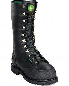 "John Deere Men's 12"" Miner 400G Waterproof Work Boots - Steel Toe"