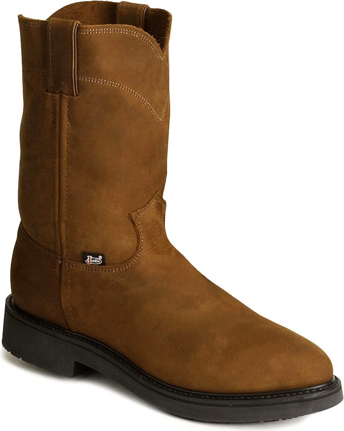 Jow Men S Justin Original Work Boot Pull On Round Toe