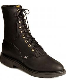 """Justin Original 8"""" Lace-Up Work Boots - Steel Toe"""