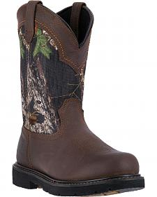"McRae Industrial Men's Camo 11"" Pull-On Work Boots - Composite Toe"