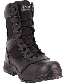 "McRae Industrial Men's Black 8"" Lace-Up Work Boots - Composite Toe"
