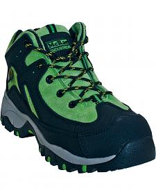 McRae Industrial Women's Green Internal Met Athletic Work Shoes - Steel Toe