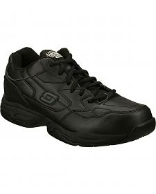 Skechers Men's Black Felton Albie Slip Resistant Work Shoes