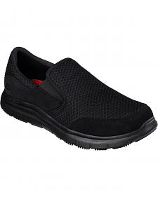 Skechers Men's Black Flex Advantage McAllen Slip Resistant Work Shoes