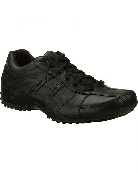 Skechers Men's Black Rockland Systemic Slip Resistant Work Shoes