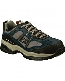 Skechers Men's Navy Soft Stride Grinnell Athletic Work Shoes - Comp Toe