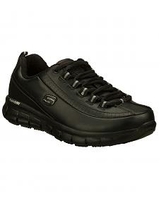 Skechers Women's Black Sure Track Trickel Slip Resistant Work Shoes