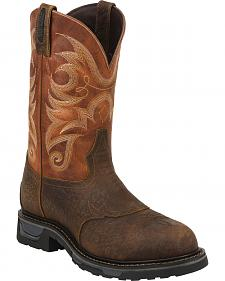 Tony Lama Sierra Badlands Waterproof TLX Performance Western Work Boots - Comp Toe