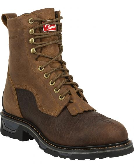 Tony Lama Men's Sierra Badlands TLX Western Work Waterproof Boots - Round Toe