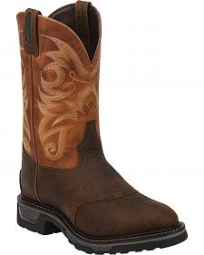 Tony Lama Sierra Badlands Waterproof TLX Performance Western Work Boots - Round Toe