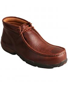 Twisted X Men's Cognac Lace-Up Driving Mocs