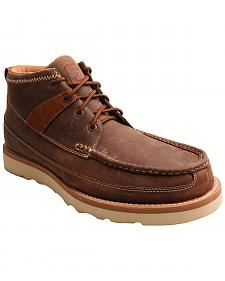 Twisted X Men's Brown Lace-Up Driving Shoes - Moc Toe