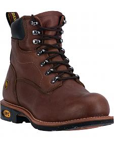 Dan Post Men's Brown Crusher Lace-Up Work Boots - Steel Toe