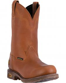 Dan Post Honey Brown Lawton Cowboy Work Boots - Round Toe