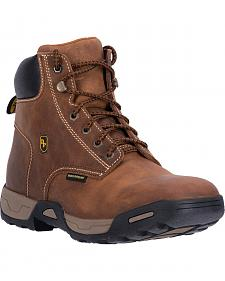 Dan Post Men's Tan Cabot Waterproof Work Boots - Soft Round Toe