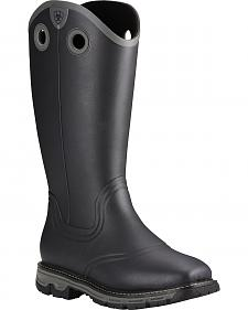 Ariat Men's Black Conquest Rubber Boots - Square Toe