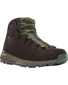 Danner Men's Dark Brown/Green Mountain 600 Hiking Boots