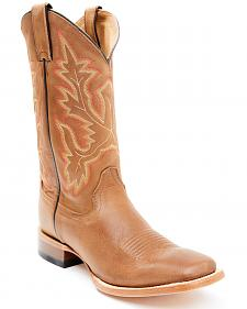 Cody James Men's Brown Stockman Cowboy Boots - Square Toe