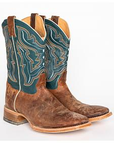 Cody James Men's Blue Cowboy Boots - Square Toe