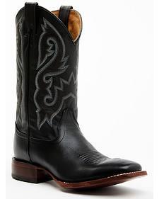 Cody James Men's Black Stockman Cowboy Boots - Square Toe
