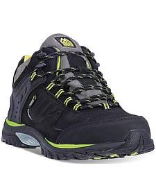 McRae Men's Black Industrial Mid-Height Work Boots - Steel Toe