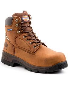 Dickies Men's Brown Stryker Work Boots - Steel Toe