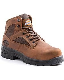 Dickies Men's Brown Buffer Work Boots - Steel Toe