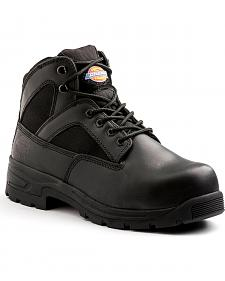 """Dickies Men's Black 6"""" Buffer Work Boot - Steel Toe"""