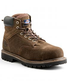 "Dickies Men's Brown 6"" Prowler Work Boots - Steel Toe"
