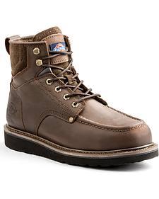 """Dickies Men's Brown Outpost 6"""" Work Boot - Steel Toe"""