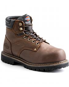 "Dickies Men's Brown Ratchet 6"" Work Boot - Steel Toe"