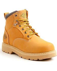 Dickies Men's Wheat Ranger Work Boots - Plain Toe