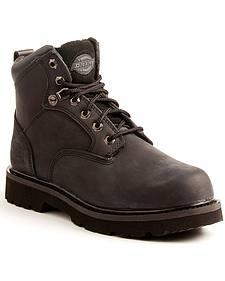 Dickies Men's Black Ranger Work Boots - Plain Toe