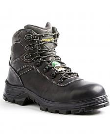 "Terra Men's Black 6"" Quinton Hiker Work Boot - Round Toe"