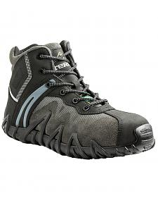 Terra Men's Black Venom Mid Work Shoes - Composite Toe