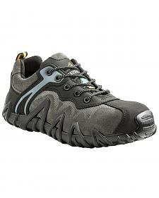 Terra Men's Black Venom Low Work Shoes - Composite Toe