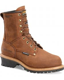 Carolina Men's Brown Waterproof Insulated Logger Boots - Steel Toe