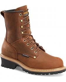 Carolina Men's Brown Waterproof Logger - Steel Toe
