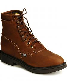 "Justin Original 6"" Lace-Up Work Boots"