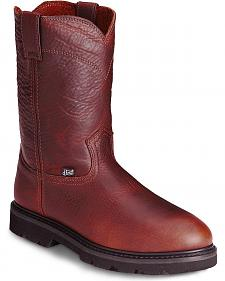 Justin Premium Pull-On Work Boots - Steel Toe