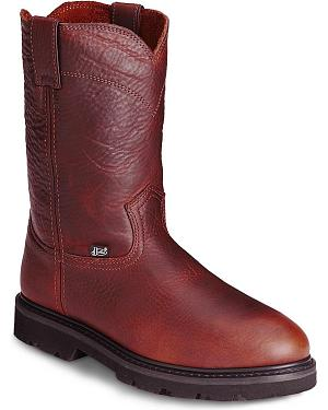Justin Premium Pull-On Work Boots - Steel Toe