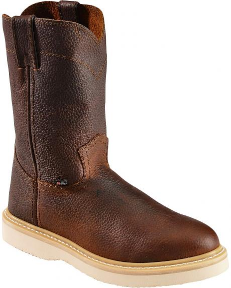 Justin Premium Wedge Work Boots - Soft Round Toe