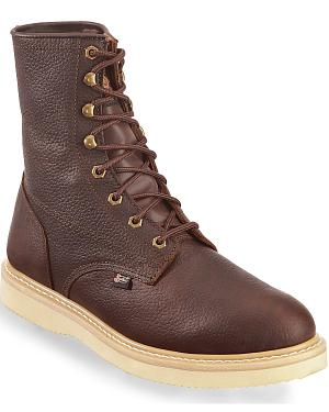 "Justin Original Wedge 8"" Lace-Up Work Boots"