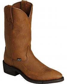 Justin Ranch & Road Cowboy Work Boots