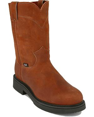 "Justin Original 10"" Pull-On Work Boots - Round Toe"