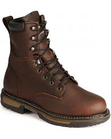 "Rocky 8"" IronClad Waterproof Work Boots - Steel Toe"
