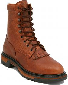"Rocky Ride Pitstop 9"" Lace-Up Work Boots"