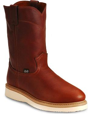 Justin Premium Wedge Work Boots - Steel Toe