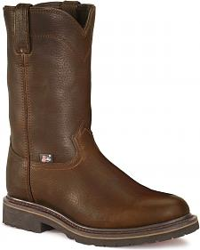 Justin JOW Worker II Pull-On Work Boots - Steel Toe